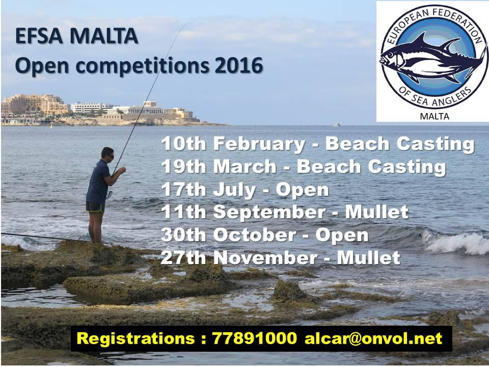 Malta fishing competitions